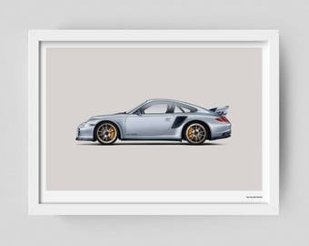 Porsche GT2 RS limited edition art poster