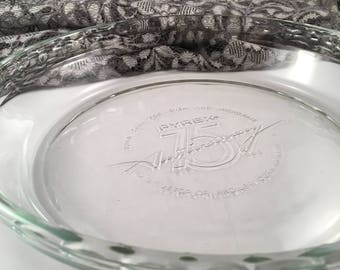 Pyrex pie plate, 75th Anniversary commemorative
