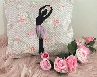 Ballerina Silhouette Cushion