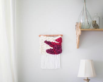 Berry Sorbet wall hanging \\ Weave \\ RTS \\ woven wall hanging \\ tapestry