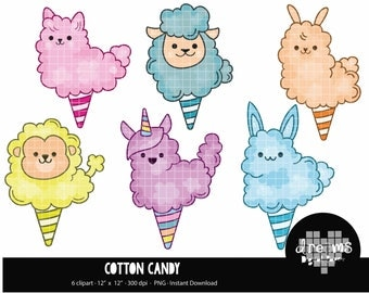 COD75-80% OFF SALE Cotton candy clipart, candy clipart,clipart for scrapbooking,commercial use,vector graphics,digital clip art