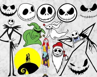 Nightmare before Christmas svg, Jack skellintong Cut files for Cricut silhouette, Skull svg, Dxf, Jack skellintong scrapbook, halloween svg