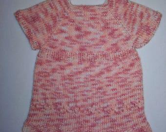 Knit baby dress 3-6 months
