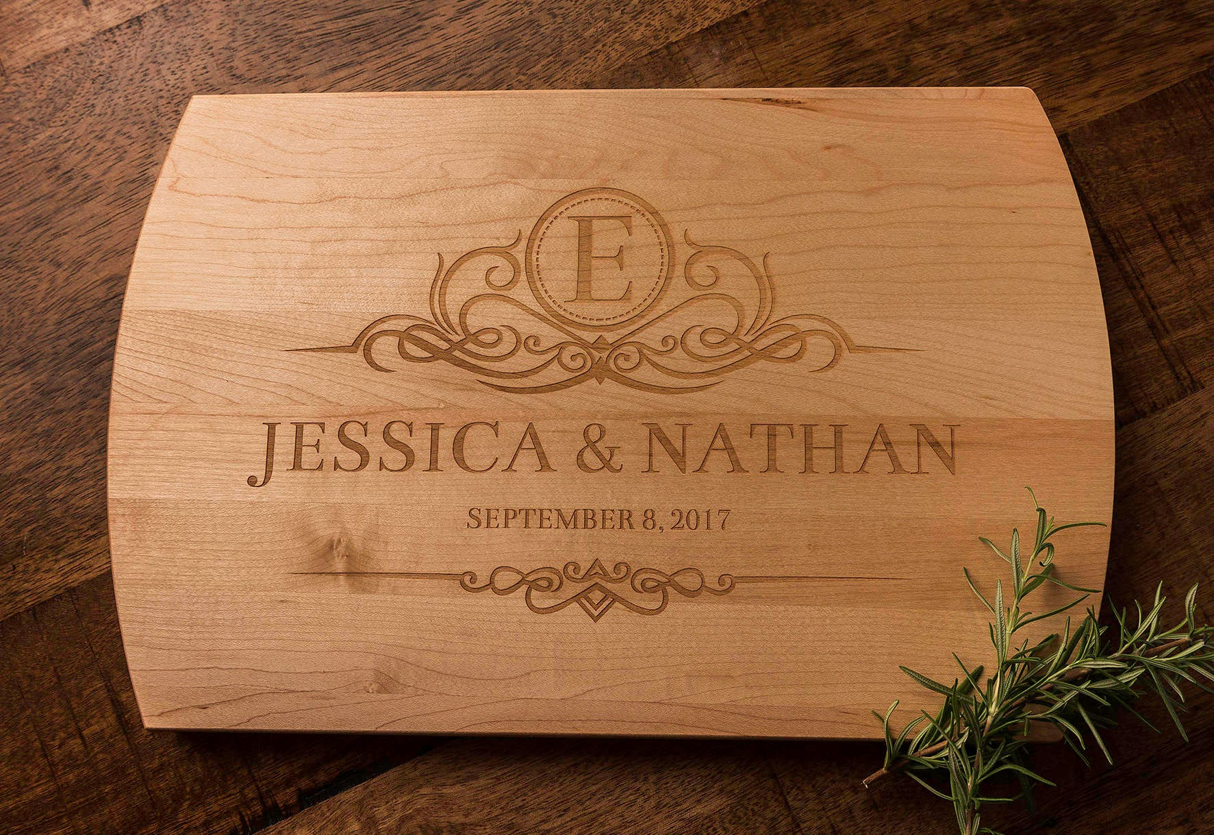 personalized gift cutting board wedding gift engagement gift
