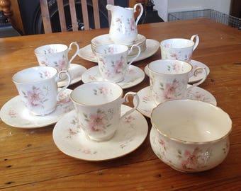 "Royal Albert ""for all seasons"" vintage sand which tea set"