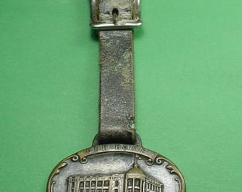Pocket Watch Fob With Strap, Denver 1912 Elk's Building, What you see is what you get.<>ETB 6789