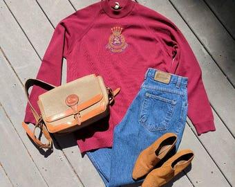 Authentic Salvation Army Maroon Sweater, Medium