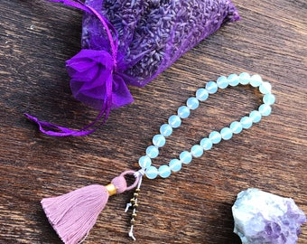 Opalite 27 Bead Mini Mala, Pocket Mala, Prayer Beads
