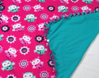 Woodland Owl Fleece Blanket