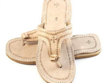 Marrakech flip-flops out of  leather