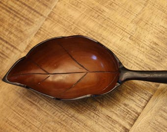 Vinage Wooden Leaf Bowl, Leaf Bowl, Wooden Bowl, Home Decor