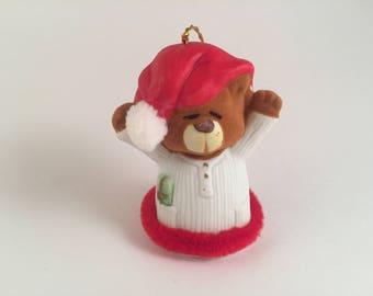 Soft N Snoozy Chimers ~ Ceramic Teddy Bear Bell Ornament