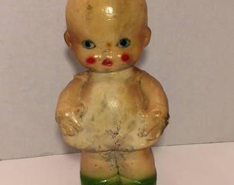 Chalkware Kewpie Carnival Doll Vintage