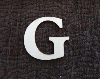 """wooden """"G"""" letter"""