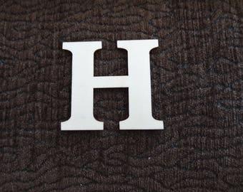"""wood """"H"""" letter"""