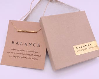 Textured Balance Necklace - inspirational necklace