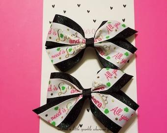 Girls st patrick day hair clip