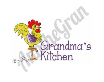 Rooster - Machine Embroidery Design, Grandma's Kitchen - Machine Embroidery Design