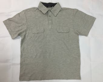 RARE!! Vintage Yohji yamamoto Sacsny Y'saccs two pocket polo tshirt Comme des Garcons Junya Issey miyake japanese designer