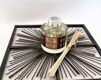 Fusion Reed Diffuser- Peony & Thyme (Natural Home Fragrance)