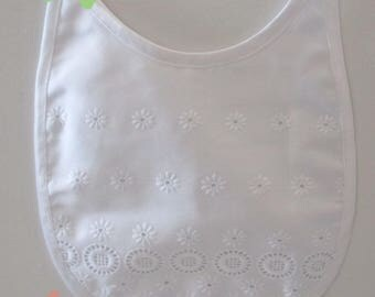 White cotton bib