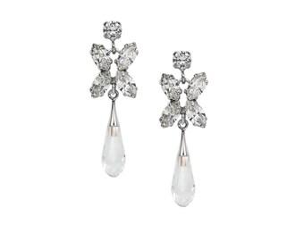 Crystal Drop Earrings with Swarovski crystals