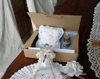 """The box gift """"shabby chic"""" 100% handmade"""