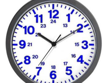 24 Hour Wall Clock