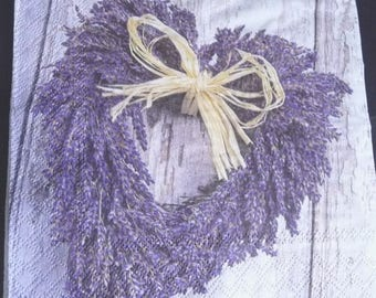 Lavender heart 2 paper towel