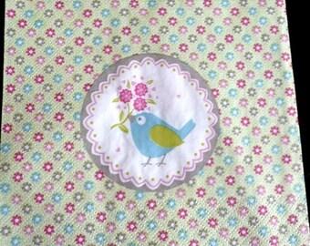 Napkin spring bird