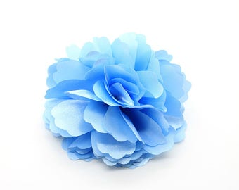 2 Blue Rose Flower Baby Girl Hair Clips Brooches 1 Pair