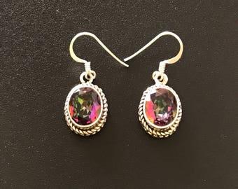Mystic Topaz earring, sterling silver earrings, gemstone earrings, sterling earrings, mystic topaz earrings, sterling silver jewellery,
