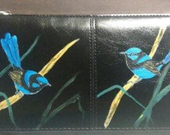 New wallet blue birds