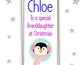 Cute Personalised Christmas Money Wallet For Granddaughter/Xmas Gift/Money Card/Free UK Shipping