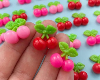 Mixed Cherries Charm/Cabochon/Resin
