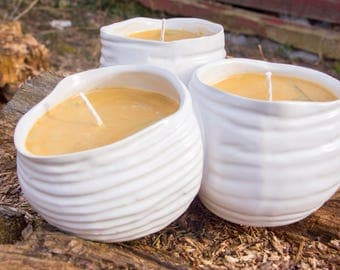 Tobacco Bayleaf Soy Candle in Reclaimed Ceramic