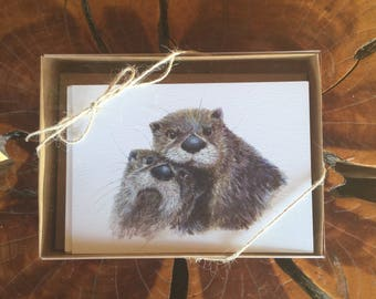 Note Cards - Boxed set, Nature, Wildlife, Set of 8 blank note cards