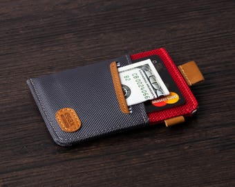 Minimalist Slim Wallet-New Idea Front Pocket Card Holder with Cash & Key