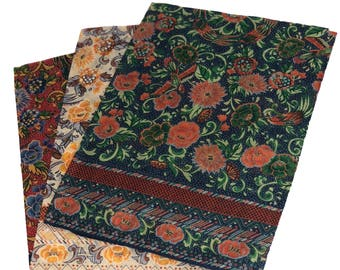 Floral Fine Italian Bandanna/Hankie (3 Pack)
