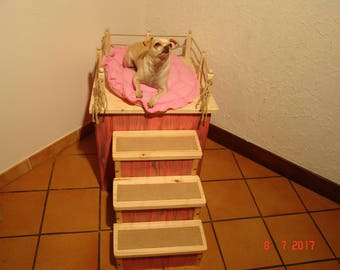 dog bed, cat bed, handmade, french work