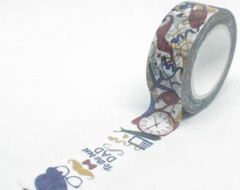 Washi Tape patterns fashion accessories multicolored 10Mx15mm