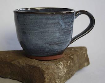 Large Blue Pottery Mug