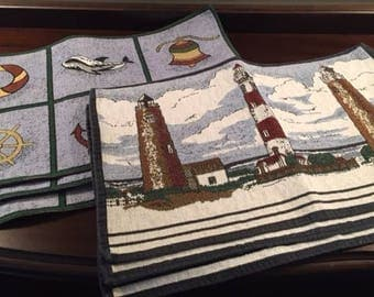 Vintage Nautical Placemats Set of 6