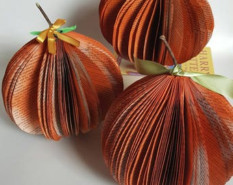 Halloween decorations, Book pumpkin, 3D book art, Halloween wedding, Autumn wedding decorations, Autumn Fall trends, Wedding Centrepiece