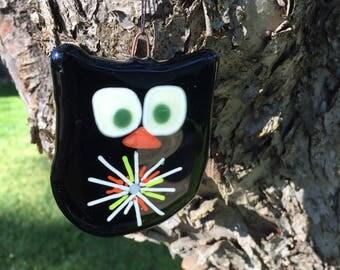 Handmade Fused Glass owl