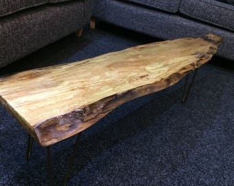 Live edge coffee table - highly varnished