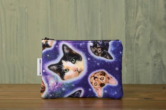 Galaxy Cat zipped pouch