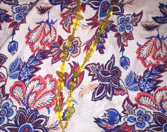 Yellow Dreamcatcher Necklace