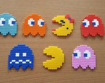 Pac-Man Fridge Magnets Set Of 7 Beads