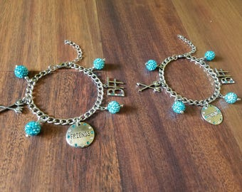 Best Friends Forever Charm Bracelets (Set of 2)